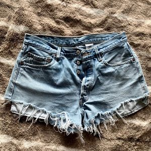 Vintage Levi's Cut Off Denim Shorts